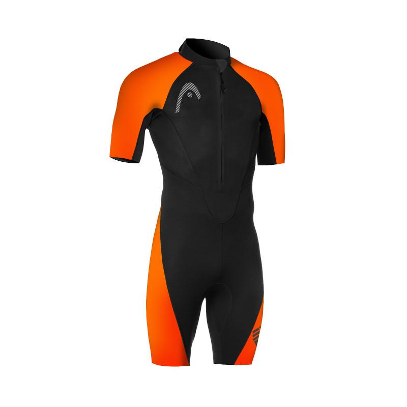 HEAD MULTIX Shorty 2,5 Man - Black Orange  - Combinaison Swimrun Homme