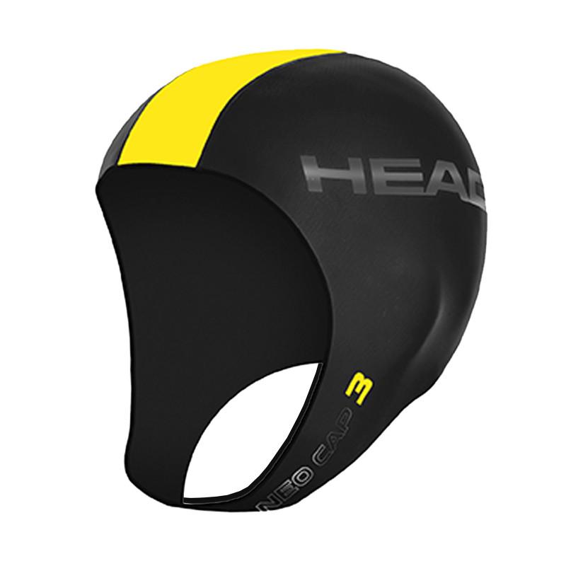 Cagoule néoprène Head  NEO CAP 3 Black Yellow pour le Swimrun