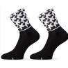 Socquettes ASSOS MONOGRAM SOCKS EVO BLACK SERIES